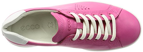 Ecco Ecco Soft 4, Derby femme Pink (50522BEETROOT/WHITE)