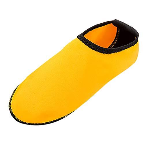Xmiral Wasserschuhe Strandschuhe Paare Gummisohle Einfarbig Barfuß Badesandale Hausschuh für Herren Damen Verschleißfest Badeschuhe Schuhe(Orange,38/39 EU)