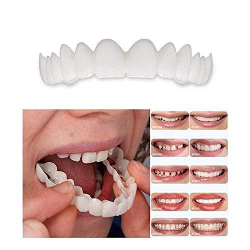 Aufhellen Zähne Aufkleber obere Unterkiefer Instant Smile Comfort Kosmetik Zähne Größe passt kieferorthopädisch (unten + Oben),1pcs -
