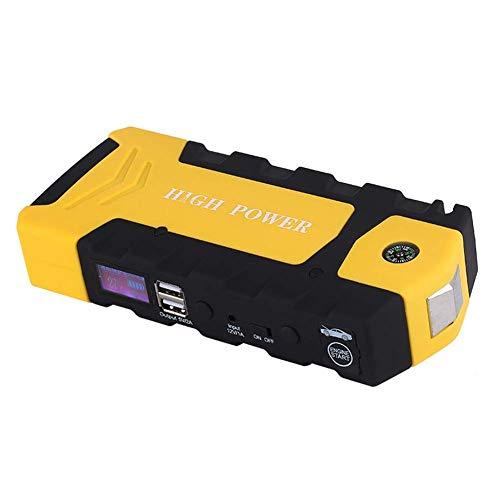 Kit De Démarrage 12V Jump, Puissance De Démarrage d'urgence Multifonction pour Voiture, 12000Mah (Essence 3.5L, Moteur Diesel 2.5L), Dual USB, Compas, Marteau De Sécurité
