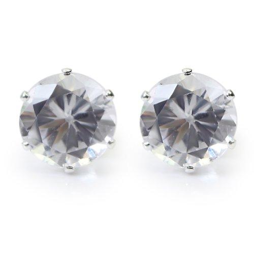 1 par Nuevo 6mm Aretes Pendientes Cristal Diamante de Imitación Regalo Hombre