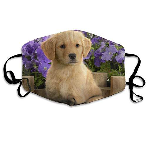 Unisex Cute Golden Retriever Puppy Mouth Mask/Warm Masks -