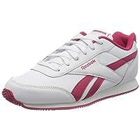 Reebok Girls Royal Cljog 2 Gymnastics Shoe, White/Rugged Rose, 4 UK