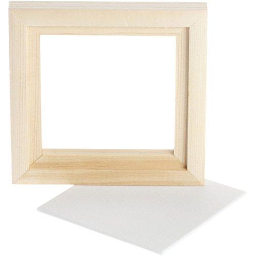 Creativ Company Marco con lienzo, medda exterior 12,8x12,8 cm, profundidad 1,5 cm, 1ud