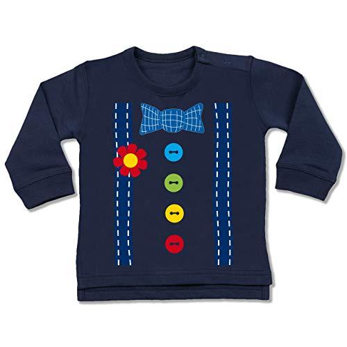 Shirtracer Karneval und Fasching Baby - Clown Kostüm blau - 18-24 Monate - Navy Blau - BZ31 - Baby ()