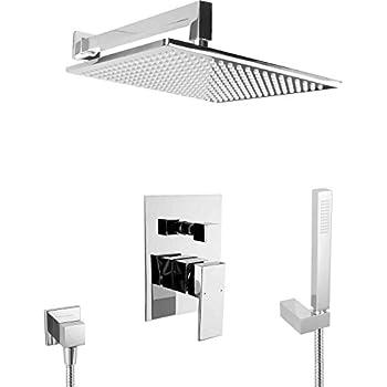 paulgurkes unterputz duschsystem regendusche xxl messing komplett set duschset baumarkt. Black Bedroom Furniture Sets. Home Design Ideas