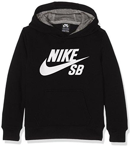 Nike SB Jungen Logo Fleece Pullover, Schwarz (Black), Medium (Herstellergröße: 10-12Y)