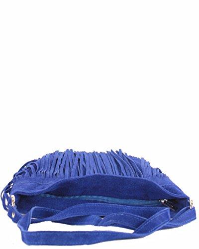 histoireDaccessoires - Borsa a tracolla Pelle Donna - SA139923GE-Noa Blu reale