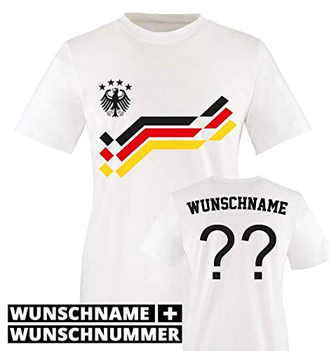 DEUTSCHLAND FAN SHIRT HERREN T-SHIRT WM EM Nummer /& Name wählbar Wunschtext