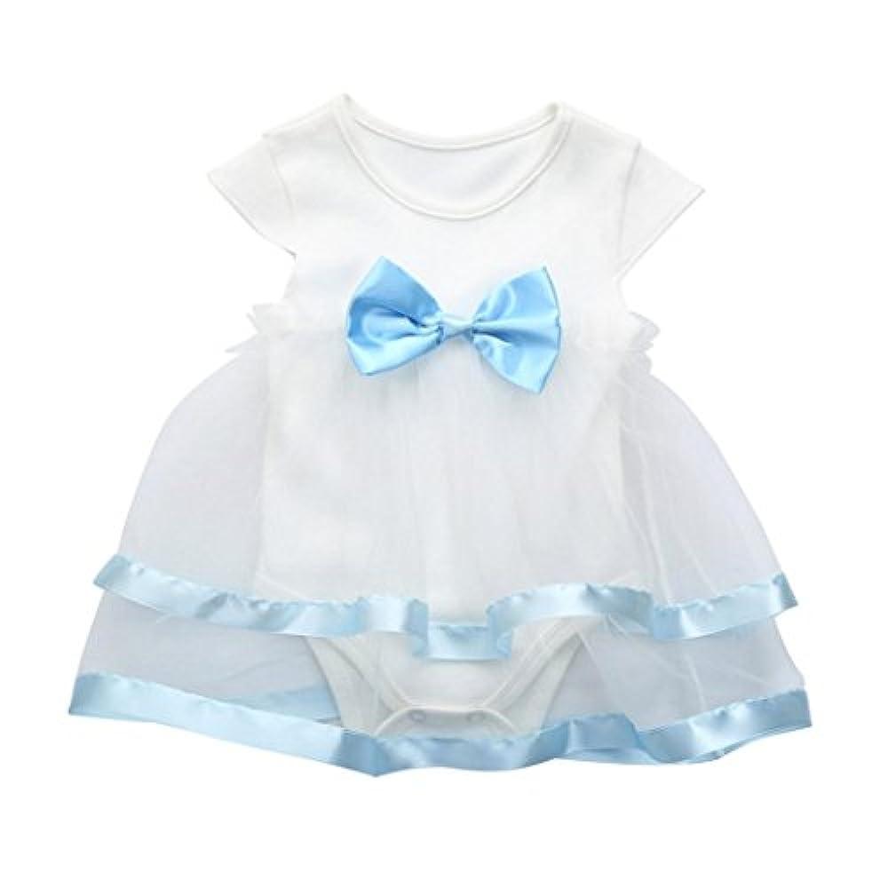 Kleid Janly 0-24 Monate Bogen Tutu Kleider Baby Infant Sleeveless Overall Prinzessin Strampler Kleid (3-6 Monate, Weiß)
