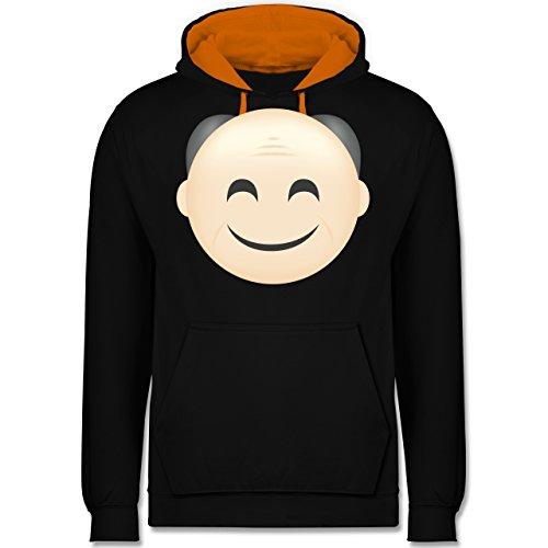 Opa - Opa Emoji - Kontrast Hoodie Schwarz/Orange