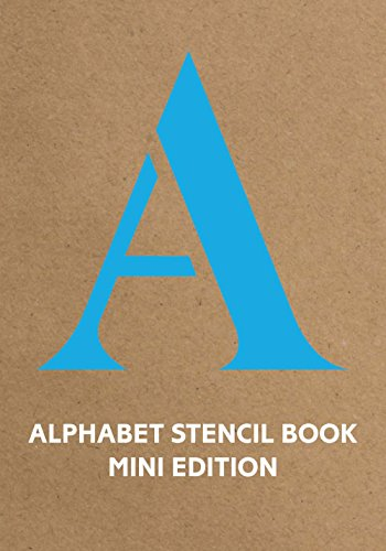 k Mini (blue) (Stencil Books) (Buchstabe B Craft)