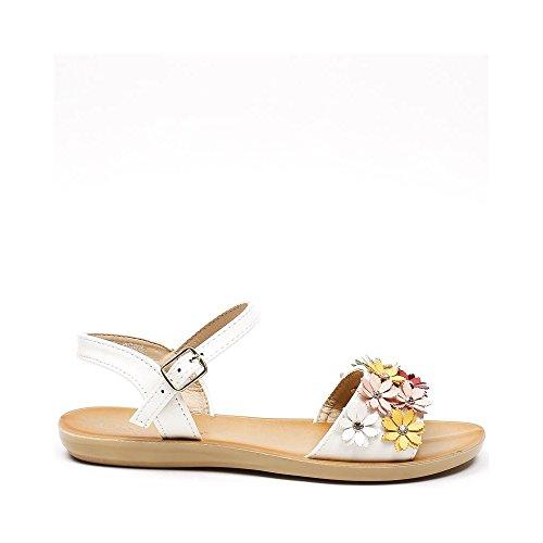 Ideal Shoes, Damen Sandalen Weiß