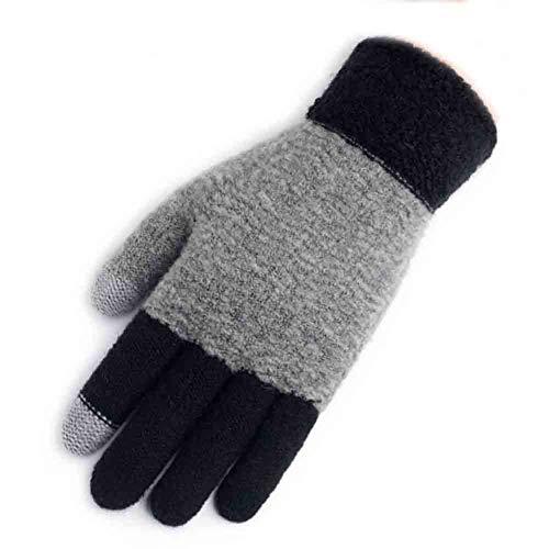 ccba33b42c4 Sunny Herren-   Damen-Touchscreen-Handschuhe Winter Warm Knit Warm Lined  Texting Glove