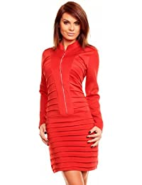high quality celebrity style red shirt military dress evening cocktail club party gradation office church outfit posh slim bandage collar long sleeve dress pencil mini size 8-12