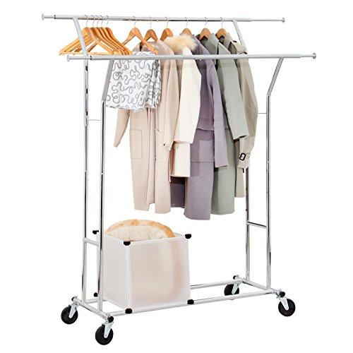 Seelux Industrie Kleiderständer auf Rollen 150kg ausziehbar zusammenklappbar Höhenverstellbar