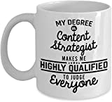 Content Strategist Coffee Mug Strategies Making Content Blog Writing Funny 11 Oz Novelty Ceramic Cup Gifts Ideas Men Women Coworker Birthday Val