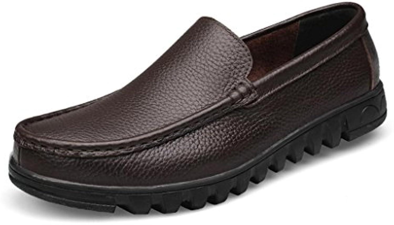 La PremièRe Couche De Cuir Chaussures en Cuir De pour Hommes Occasionnels Chaussures en Cuir MaréE Papa Saisons 223d60