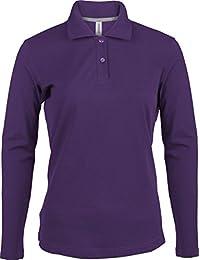 Ladies Piqué Langarm Poloshirt