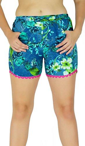 Heiße Hosen kurzschließt Mehrfarbenhose Hipster-Sommerabnutzung Boho Baumwollgewebe - Grösse wählen Entwurf # 1
