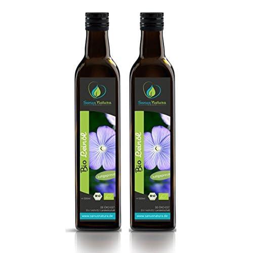Sanus Natura Bio Leinl 1000ml Glasflasche