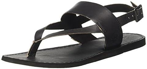Timberland Carolista Ankle Thongblack Dry Gulch, Sandales Compensées Femme, Vert