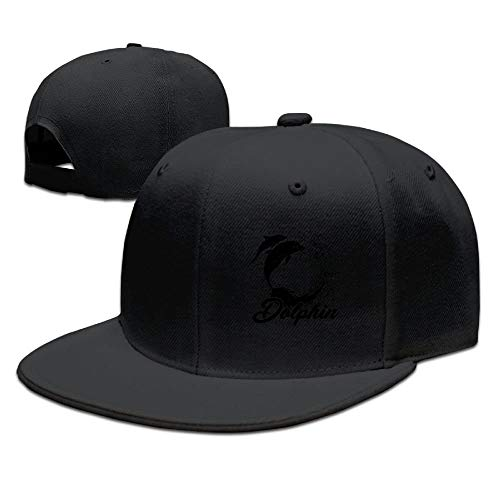 Nifdhkw Black Dolphin Unisex Snapback Adjustable Flat Bill Baseball cap Multicolor39