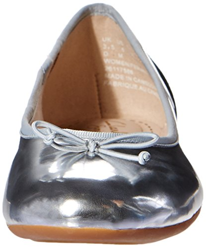 Clarks Couture Bloom Damen Ballerinas Silber (Silver)