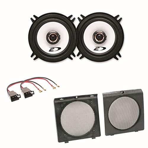 Alpine SXE-1325S 2-Wege Koaxial Lautsprecher Boxen System Einbauset für Golf 2 vordere Türen -