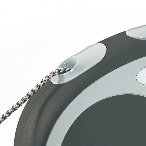 flexi Roll-Leine Vario M Seil 8 m anthrazit für Hunde bis max. 20 kg - 4