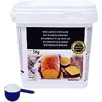 NortemBio Bicarbonate de Soude 3 Kg, Qualité Supérieure, Développé en France.
