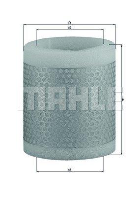 Preisvergleich Produktbild Mahle Knecht LX 124 Luftfilter