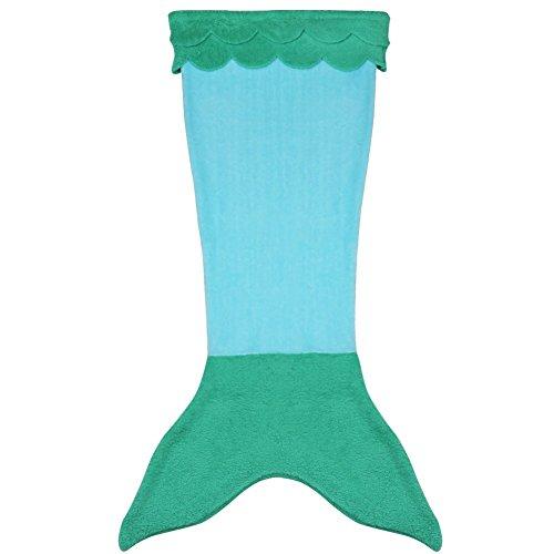 Tiaobug Fleecedecke Wohndecke Lounge-Decke schlafdecke Kuscheldecke Tagesdecke Mädchen Kinder Meerjungfrau Kostüm Schwanz Flosse Decke- Ideale Geschenk für Mädchen