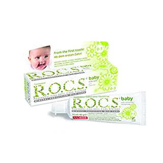 R.O.C.S. - Zahncreme Baby Duftende Kamille Beim Verschlucken unbedenkliche & effektive Formel - 45 g