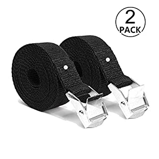 Alxcio Cargo strap Ratchet Strap Lashing Straps with Buckle 5M x 25mm Webbing Strap Cargo Tie-Downs for Cam Buckles Car Trailer Luggage Household Goods 2 Pieces