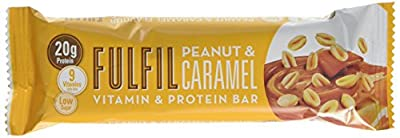 Fulfil Peanut and Caramel Vitamin and Protein Bar - Pack of 15 from Fulfil
