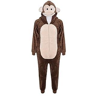 A2Z 4 Kids® Kids Girls Boys Soft Fluffy Animal Onesie - E.S Monkey 13