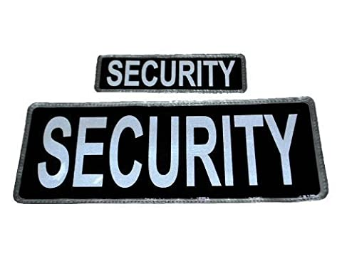 Black SECURITY Reflective Badge Set FREE DELIVERY