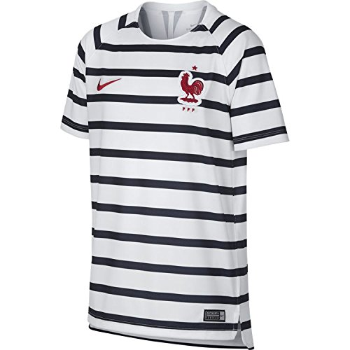 Nike FFF Dri-fit Squad Alto de fútbol Unisex niño, White/White/(University Red), FR: XS (Talla Fabricante: XS)