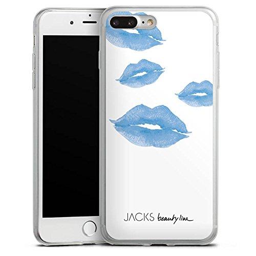 Apple iPhone 8 Plus Slim Case Silikon Hülle Schutzhülle Kuss Küsse Mund Silikon Slim Case transparent
