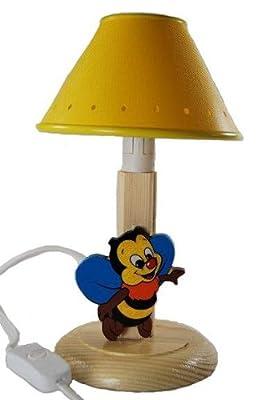 Tischlampe Lampe Stehlampe Tischleuchte Kinder Kinderzimmer Holz Biene 24cm von Kinder-Land - Lampenhans.de