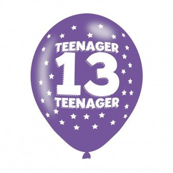 amscan 9900709 27,9 cm Teenager 13 Latex Luftballons