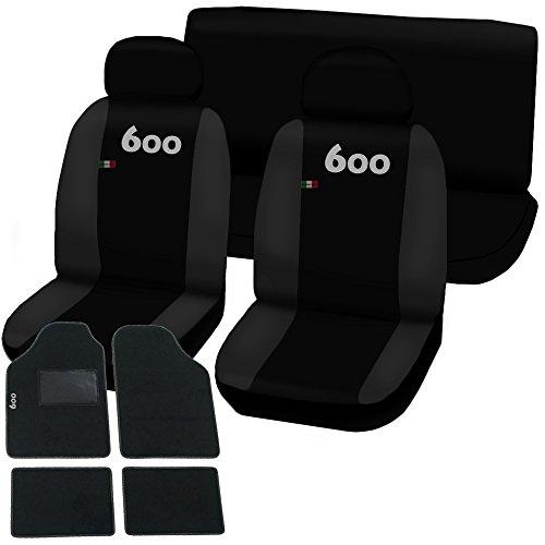 Lupex Shop 600-TMB_NGs Coprisedili e Tappetini, Nero/Grigio Scuro