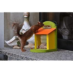 Eichhörnchen Futterstation Futterhaus Futterkasten gelb/orange
