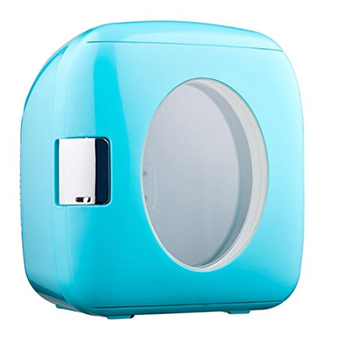 BX 4L Coche Hogar Estudiante Dormitorio Mini Nevera , Blue,blue