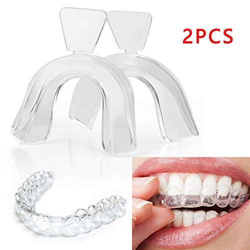 Edwiin Bleaching Schienen zum Zähne bleichen Thermotrays Zahnschiene weiße Zähne weisser Machen Gel Strips Streifen weiche Knirscherschiene heiß aushärtender Zahnhalter für die Zahnaufhellung -