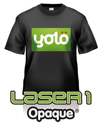 Yolo Laser1 Lot de 10feuilles de papier transfert sur t-shirts opaque format A4