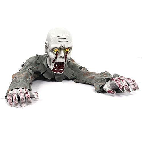 GDSZ Animierte Halloween Scary Prop Boden Crawling Zombie Skeleton Spukhaus Dekoration Elektro-Horror-Geist Wird Klettern Crawling Room Escape Access