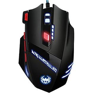 AMIR Gaming Maus, 9200DPI Gamer Maus, USB Kabel Gaming Maus mit 8 Tasten, LED,und USB-Wired Für Laptop/PC/MacBook/Computer