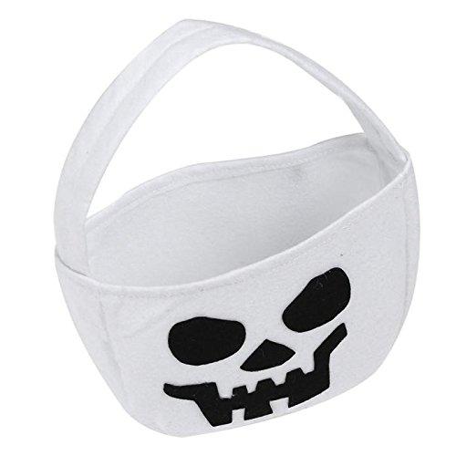 Halloween Goodie Bags Jack-O-Lantern Kürbis Schwarze Katze Ghost Goodie Bags Süßes oder Saures Goody Bag Wiederverwendbare Halloween-Kekstasche Spooky Halloween-Dekorationen für Jungen Mädchen